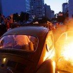 巴西硝煙再起 數百民眾反世足