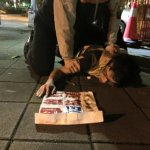 台聯青年抗議M503 深夜赴總統官邸潑漆