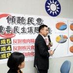 國民黨民調:7成4反對日本核災食品解禁