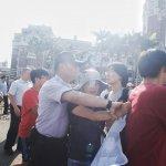 韓國Hydis工人集結 赴總統府前抗議