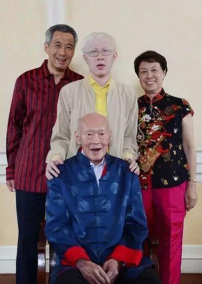李光耀曾說,他最疼愛的孫子就是患有白化症的李毅鵬。(翻攝網路)