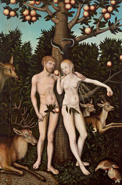 當亞當、夏娃住在伊甸園的時候,上帝沒有要他們穿衣遮羞。圖片來源:維基百科,http://goo.gl/gfkW6i