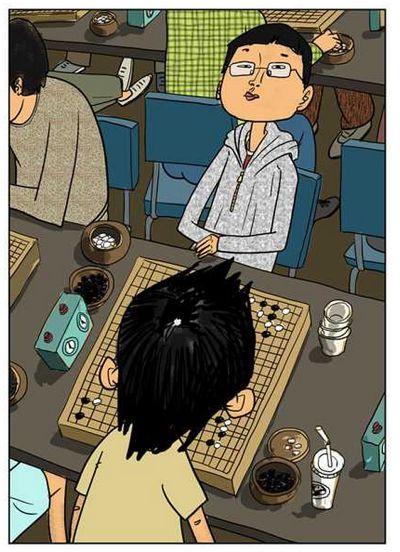 圍棋院生日日對奕,熟悉不同對手的思路。