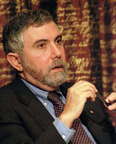 2008年諾貝爾經濟學獎得主保羅克魯曼。(維基百科)