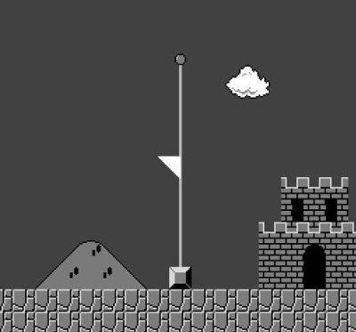 最後,真的要向您說再見了~ 瑪莉歐的城堡也為你降半旗!(圖/Twitter)
