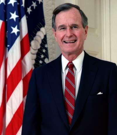 美國前總統老布希。(取自Wikipedia/Public Domain)