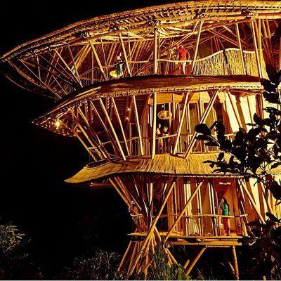 結合傳統工藝和現代技術打造環保竹屋(圖/IBUKU@facebook)