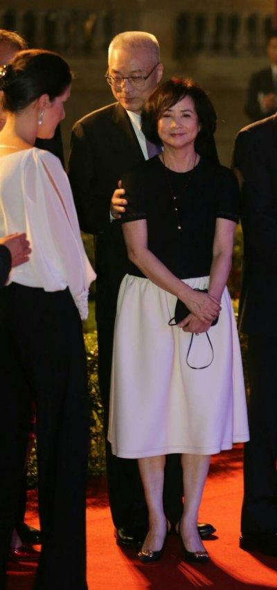 吳敦義副總統與夫人蔡令怡(陳明仁攝)