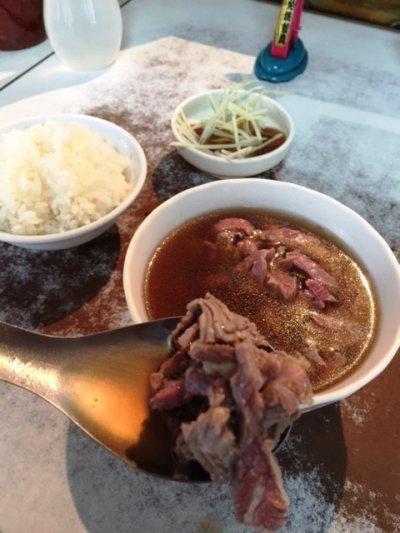 台南牛肉湯。