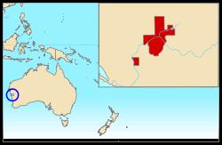 赫特河公國(Hutt River)位置。(出自維基百科)