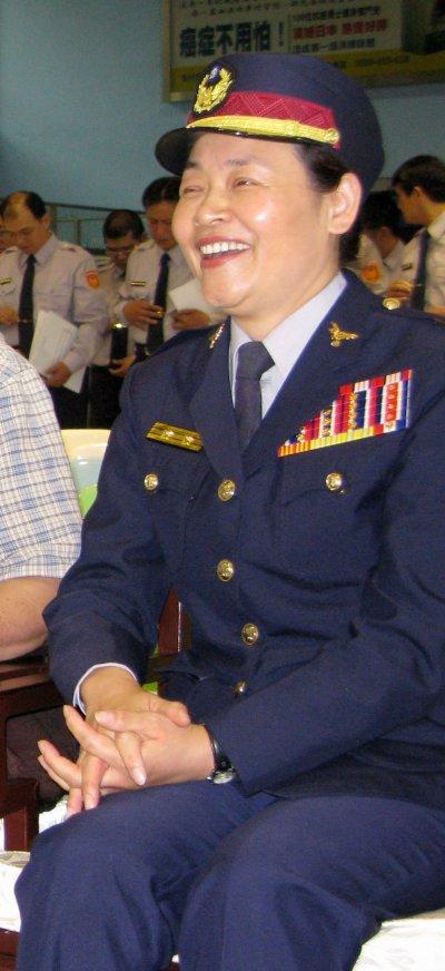 基隆首位女性港務警察局長李莉娟。(取自基隆市政府)