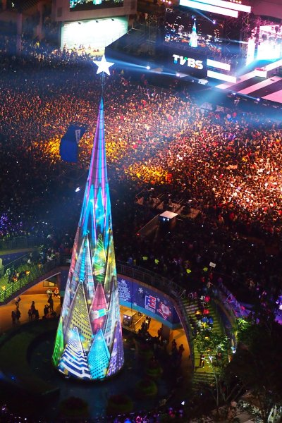 耶誕巨星派對演唱會 - 3D光雕秀 (圖/新北市政府觀光旅遊局)