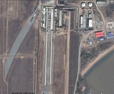 網路上流傳的「中國第三艘航空母艦蒸汽彈射器」衛星照。