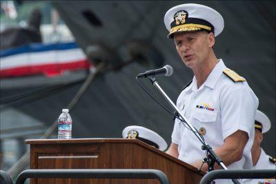 美國第七艦隊司令奧庫安。(取自推特)