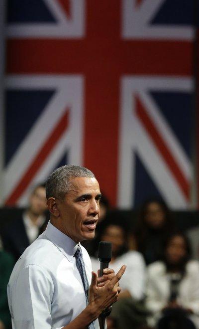 歐巴馬訪問英國。(美聯社)