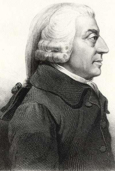 亞當·斯密在1776年開創,他所著的《國富論》把資本主義經濟學發展成一個完整的體系。(取自:維基百科)
