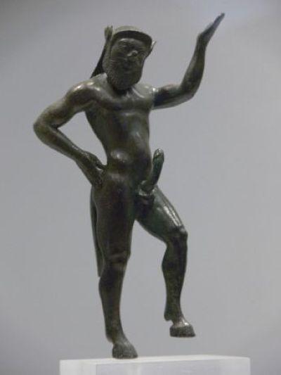 薩提爾像,雅典考古學博物館藏。