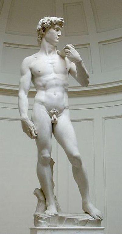 米開朗基羅大衛像。