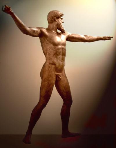 宙斯或海神波賽頓像,雅典考古學博物館。