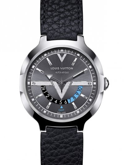 Louis Vuitton GMT錶款特別提供以Taurillon皮革製作的錶帶,展現Louis Vuitton對品質的無上承諾。(圖/Louis Vuitton提供)