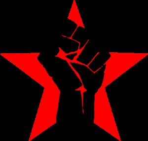 黑人民權運動「Black Power Movement」的重要標誌,強森以此圖為臉書頭像。(取自維基百科)