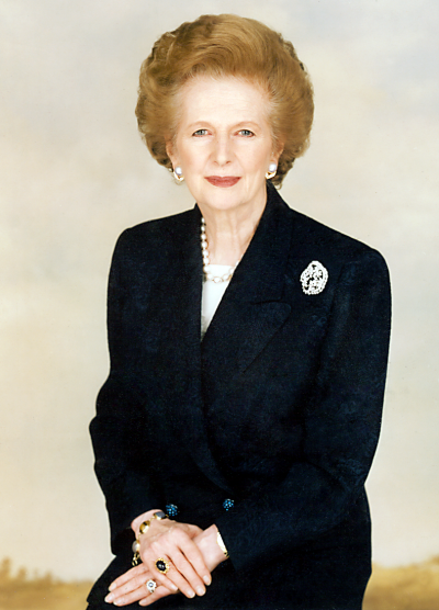 英國前首相「鐵娘子」柴契爾夫人(Margaret Thatcher)(Chris Collins@Wikipedia / CC BY-SA 3.0)