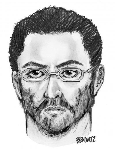 紐約市警局公布的嫌疑人素描像。(美聯社)