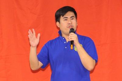 王炳忠21日出席新黨23週年黨慶大會。(顏麟宇攝)