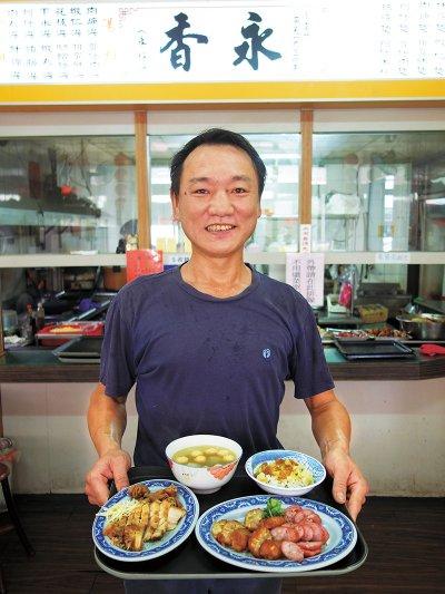 雞卷、蝦丸和香腸是永香民俗小吃的金三角。(圖/天下雜誌提供)