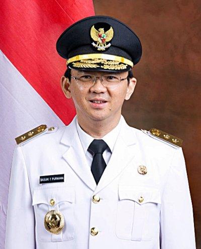 印尼首都雅加達特區首長選舉,華裔候選人鍾萬學(Basuki Tjahaja Purnama)(Wikipedia / Public Domain)