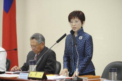 20161109-國民黨中常會洪習會報告,黨主席洪秀柱。(甘岱民攝)