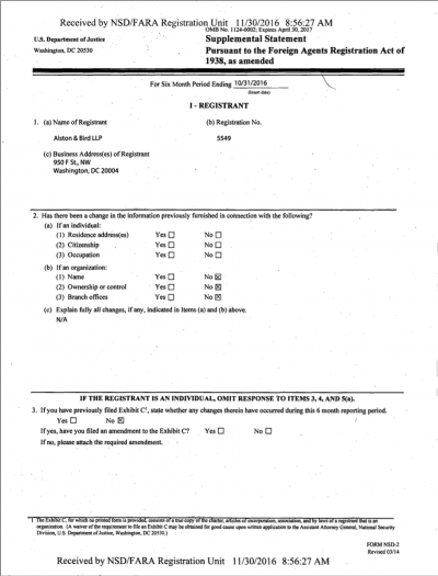 紐約時報從提交司法部的文件中,發現共和黨大老杜爾是川蔡通話的幕後功臣。(紐約時報)