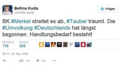 「⋯⋯ #德國 的 #國族變相 早已經開始了。我們需要行動!」 (翻攝推特)