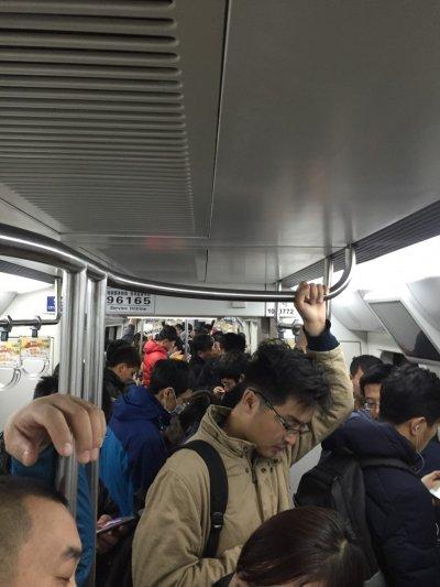 人口數眾多的北京,地鐵總是人滿為患。(圖/陳同學提供)