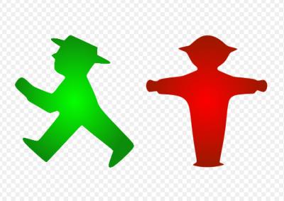 最早出現的東德小綠人號誌。(圖/維基百科公有領域)