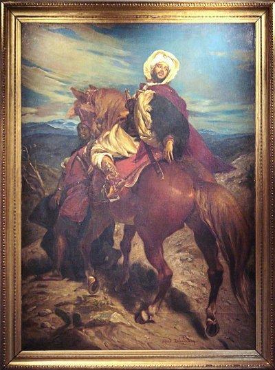 穆罕默德十二世離開格拉納達。(維基百科公有領域)