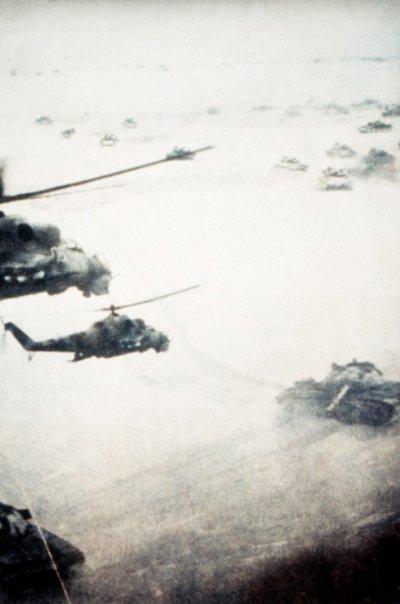 在阿富汗上空戰鬥的蘇聯戰機。(圖/說書提供)