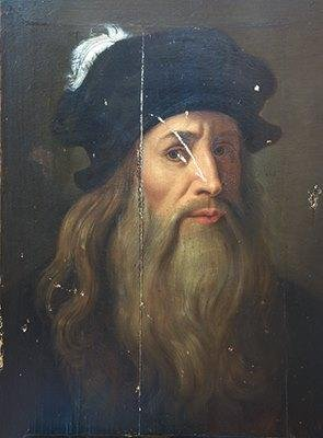 達文西肖像。(維基百科公有領域)