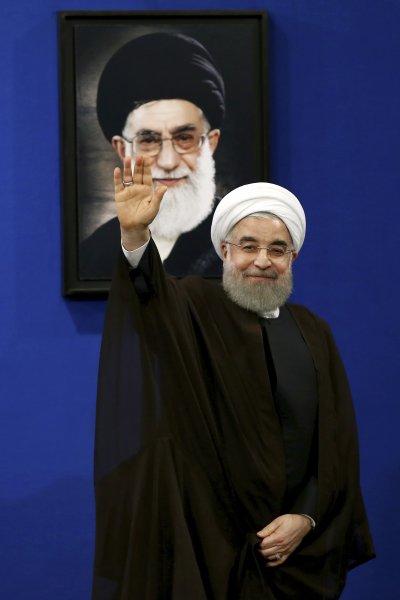 伊朗總統魯哈尼。(美聯社)
