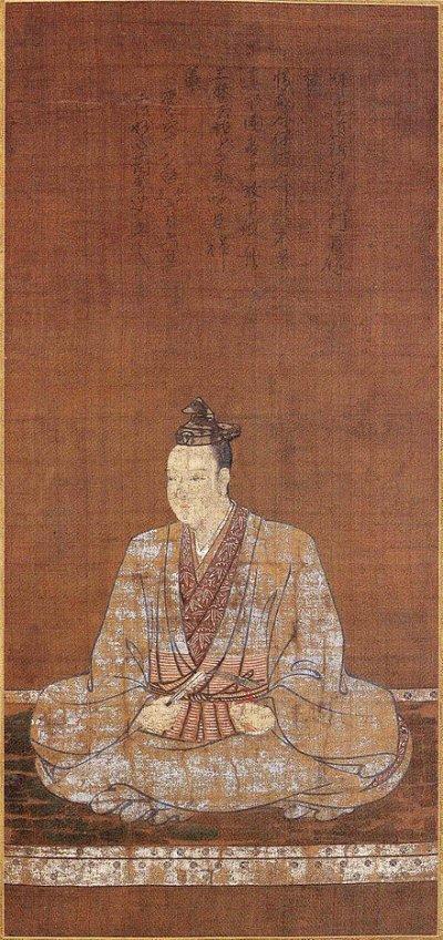 岸和田市本德寺收藏的明智光秀畫像。(維基百科)