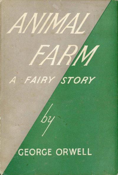 《動物農莊》初版封面(Wikipedia/Public Domainc)