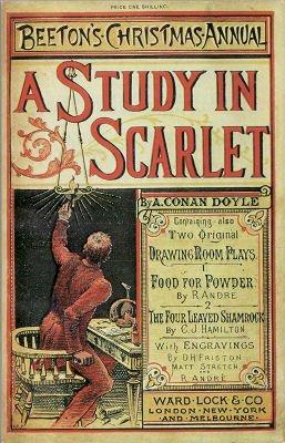 1887年,《血字的研究》初版封面(Wikipedia/Public Domain)