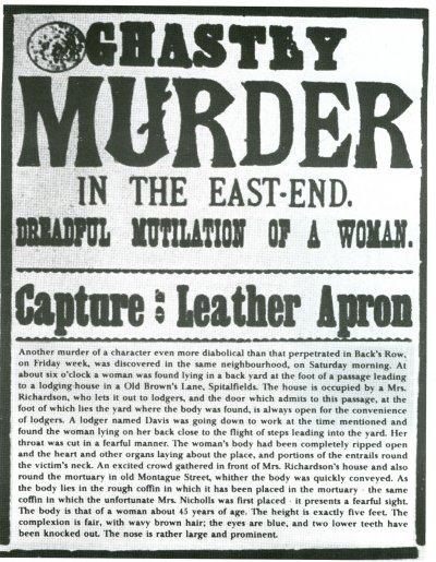 當時的報紙報導安妮.查普曼遭到開膛手傑克殺害(Wikipedia/Public Domain)