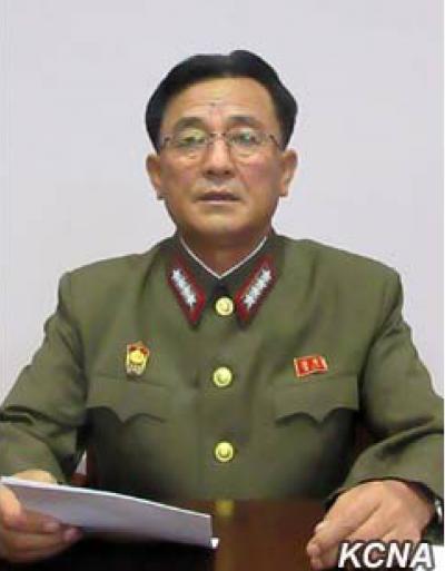 朝鮮人民軍戰略軍司令官金絡謙大將。