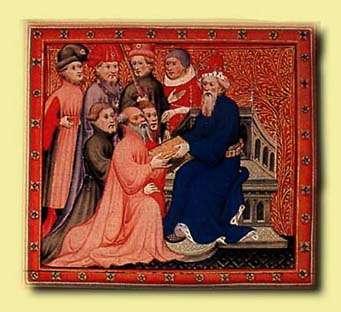 《馬可波羅遊記》插圖:馬可波羅與忽必烈在大都的王廷(Wikipedia/Public Domain)