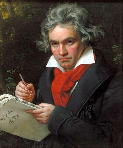貝多芬。(維基百科公有領域)