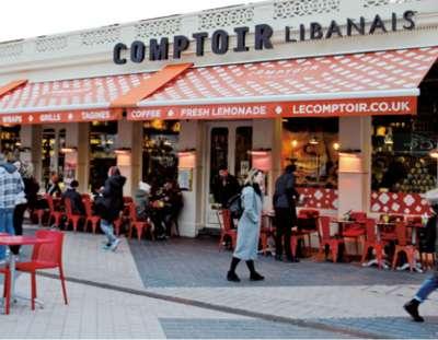 異國設計風黎巴嫩餐廳。(圖/麥田出版提供)
