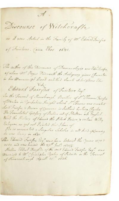 英國17世紀女巫審判實錄的珍貴手稿近日在倫敦拍賣(取自@TomAntiquates/Twitter)