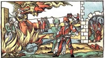 被控是女巫的女子遭到火刑懲罰(Wikipedia/Public Domain)