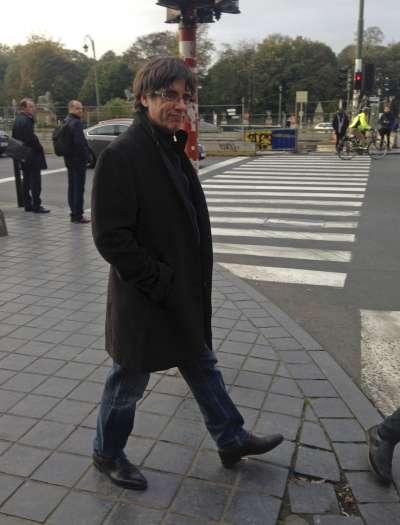 遭到罷黜的加泰隆尼亞自治區主席普吉德蒙目前人在比利時布魯塞爾。(美聯社)